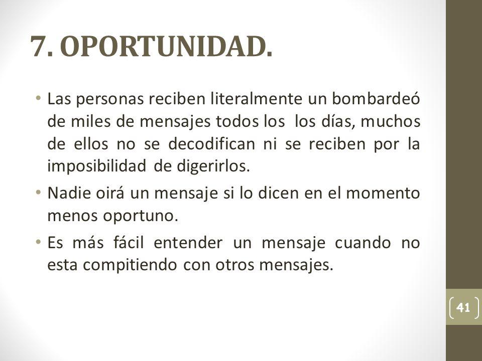 7. OPORTUNIDAD.
