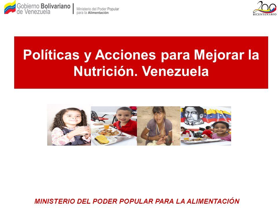 Políticas y Acciones para Mejorar la Nutrición. Venezuela