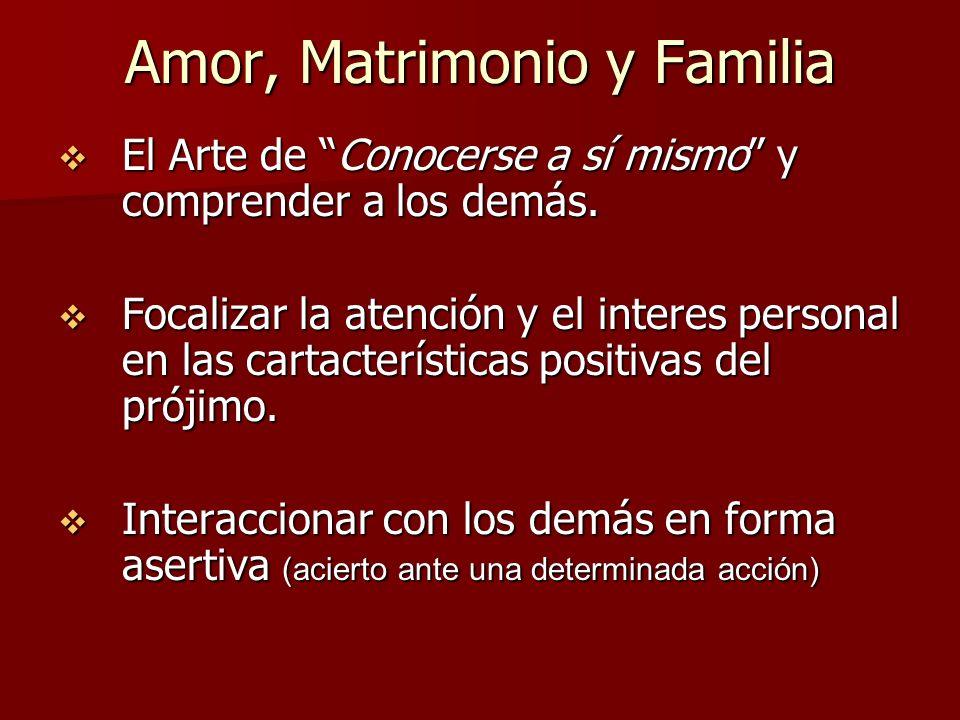 Amor, Matrimonio y Familia