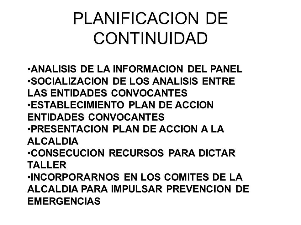 PLANIFICACION DE CONTINUIDAD