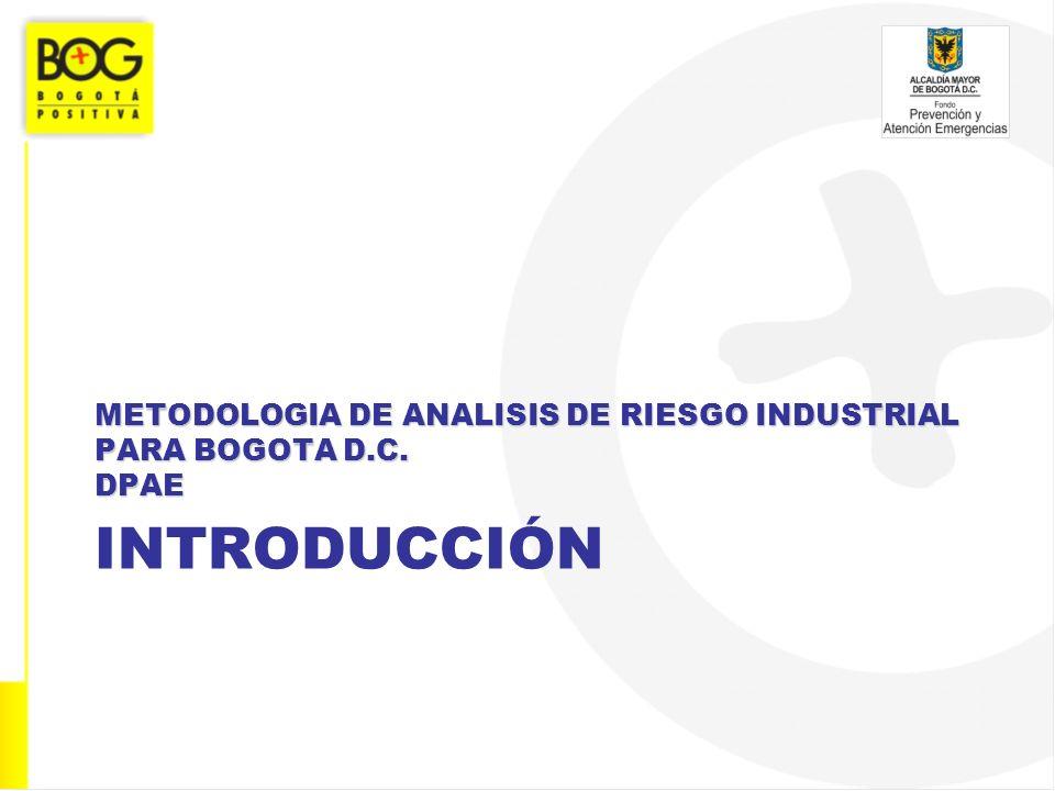 METODOLOGIA DE ANALISIS DE RIESGO INDUSTRIAL PARA BOGOTA D.C. DPAE