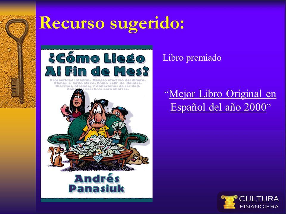 Mejor Libro Original en Español del año 2000