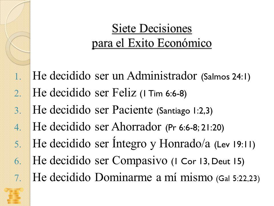 Siete Decisiones para el Exito Económico