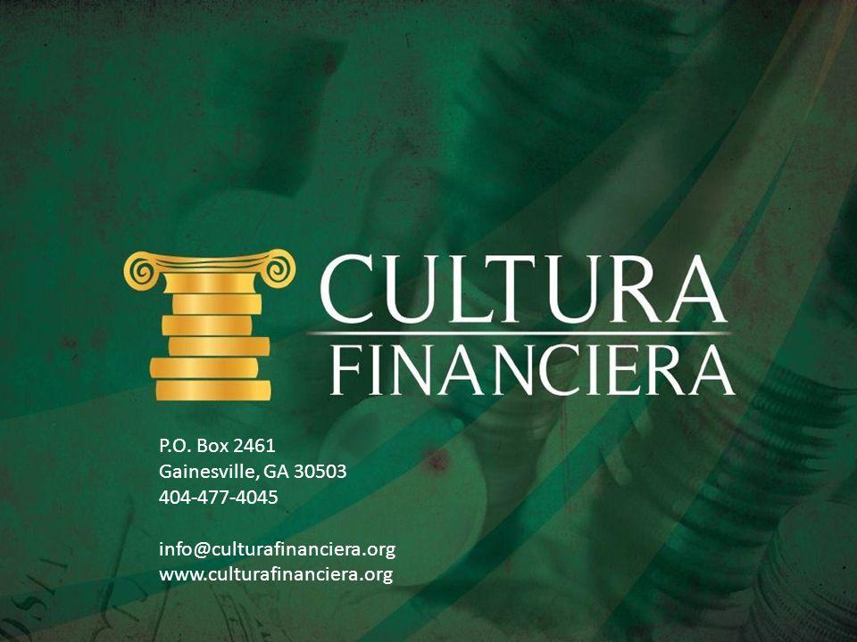 P.O.Box 2461Gainesville, GA 30503. 404-477-4045. info@culturafinanciera.org.