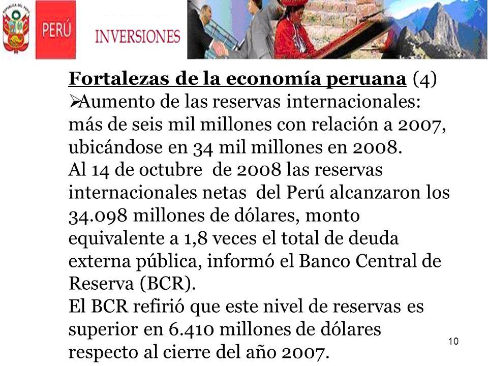 Fortalezas de la economía peruana (4)