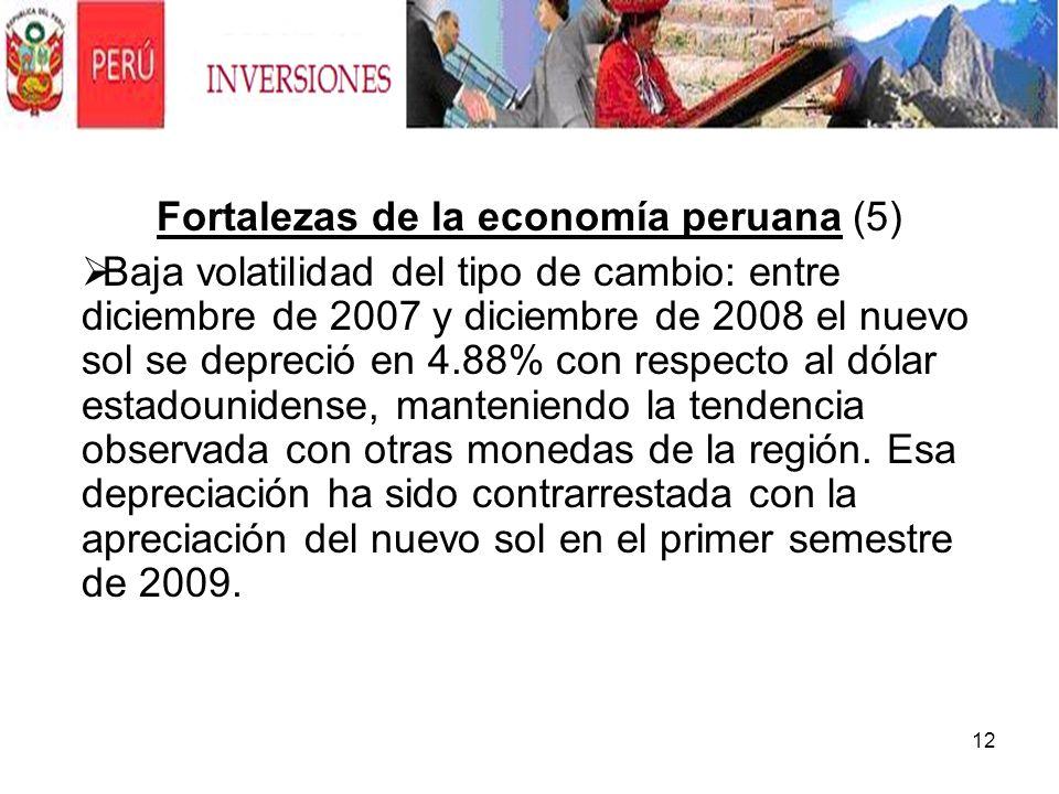 Fortalezas de la economía peruana (5)
