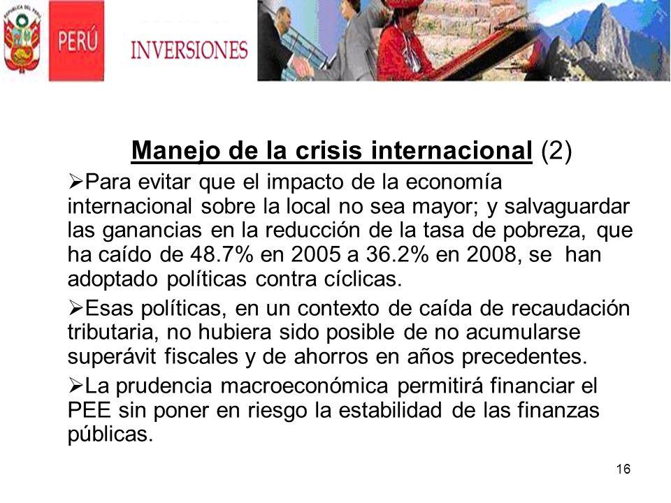 Manejo de la crisis internacional (2)