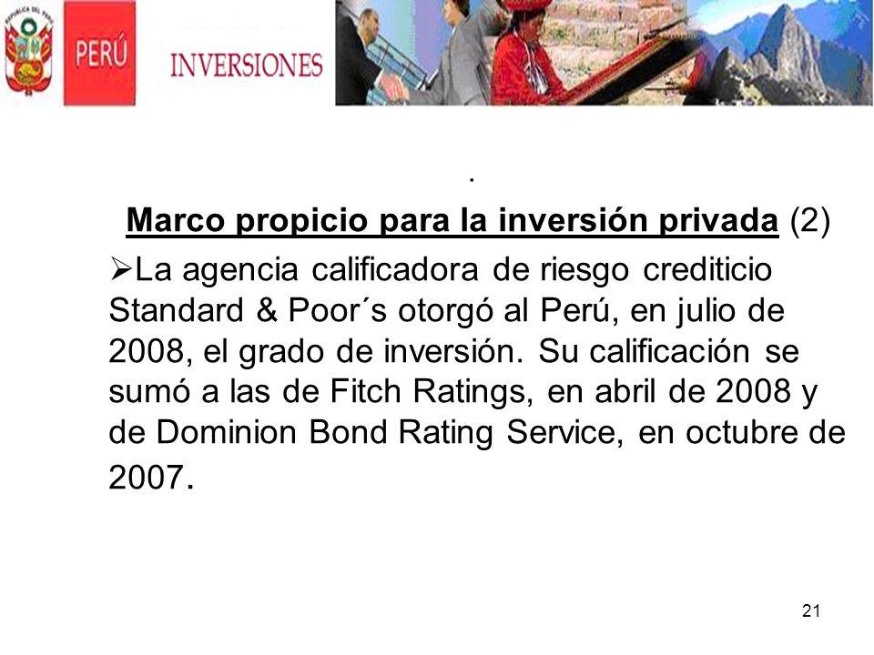 Marco propicio para la inversión privada (2)