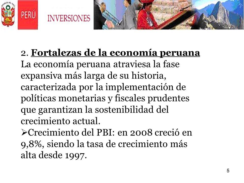2. Fortalezas de la economía peruana