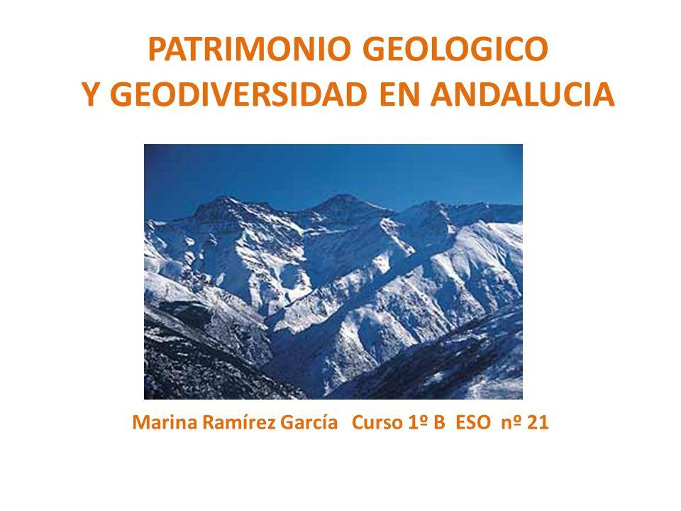 PATRIMONIO GEOLOGICO Y GEODIVERSIDAD EN ANDALUCIA