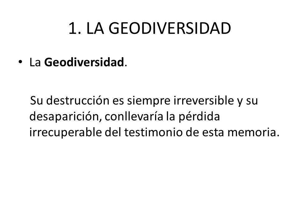 1. LA GEODIVERSIDAD La Geodiversidad.