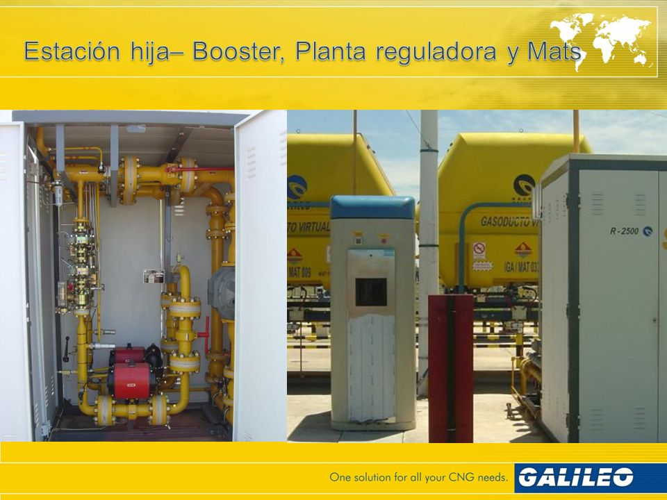 Estación hija– Booster, Planta reguladora y Mats