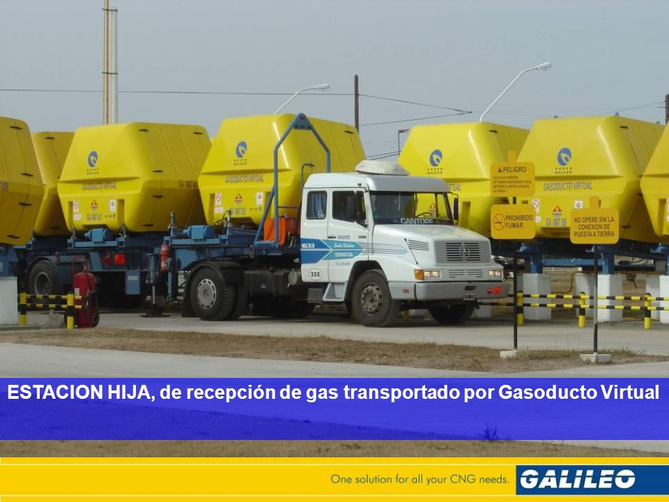 ESTACION HIJA, de recepción de gas transportado por Gasoducto Virtual