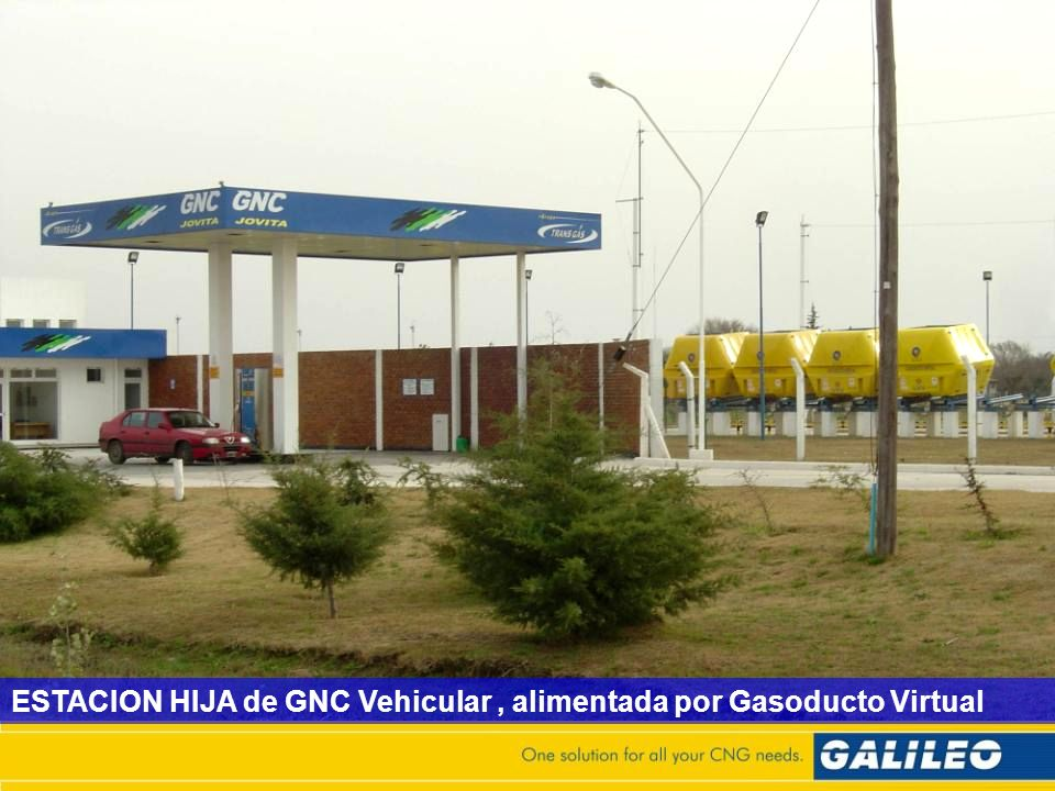 ESTACION HIJA de GNC Vehicular , alimentada por Gasoducto Virtual