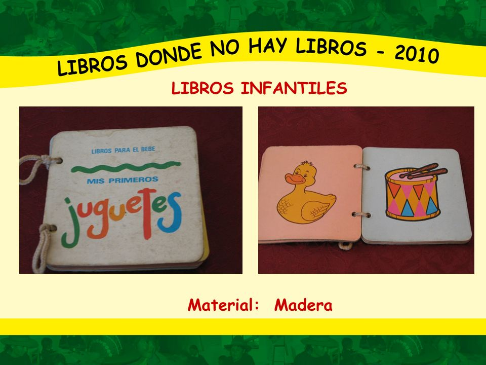LIBROS INFANTILES Material: Madera