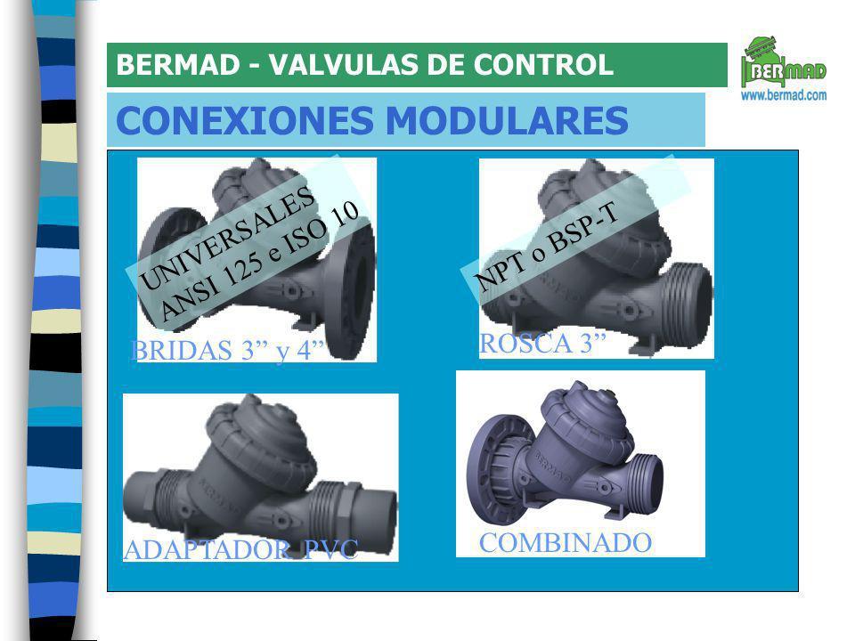 CONEXIONES MODULARES BERMAD - VALVULAS DE CONTROL