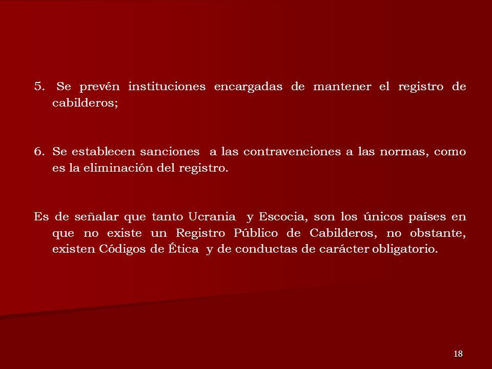 Se prevén instituciones encargadas de mantener el registro de cabilderos;