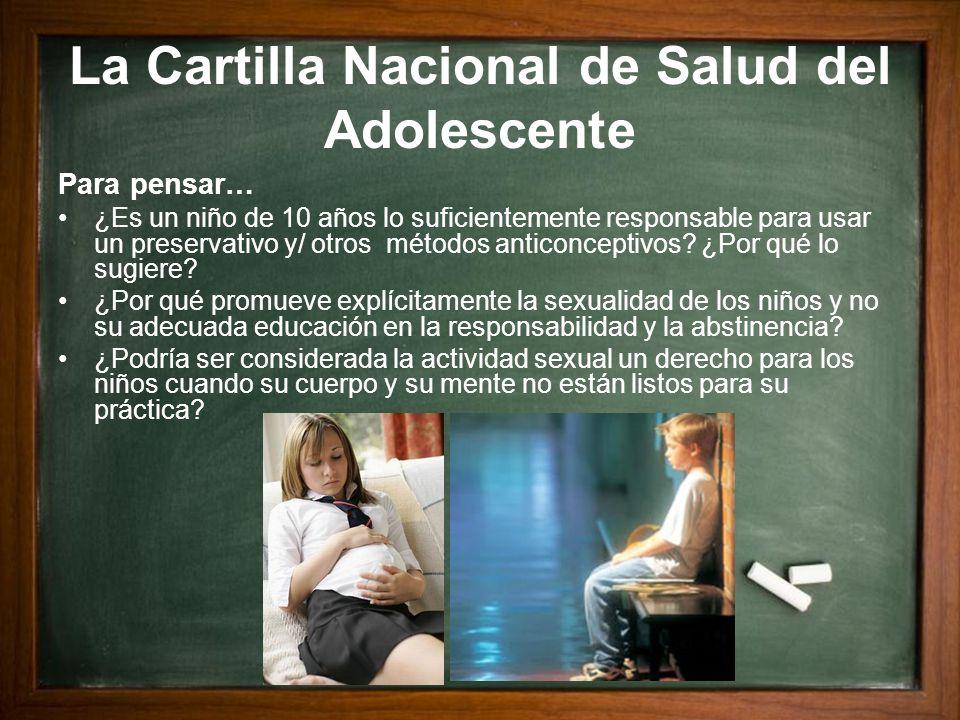 La Cartilla Nacional de Salud del Adolescente