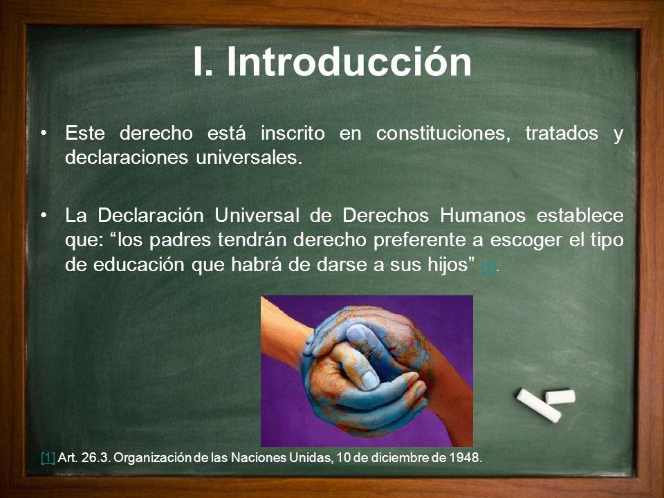 I. Introducción Este derecho está inscrito en constituciones, tratados y declaraciones universales.