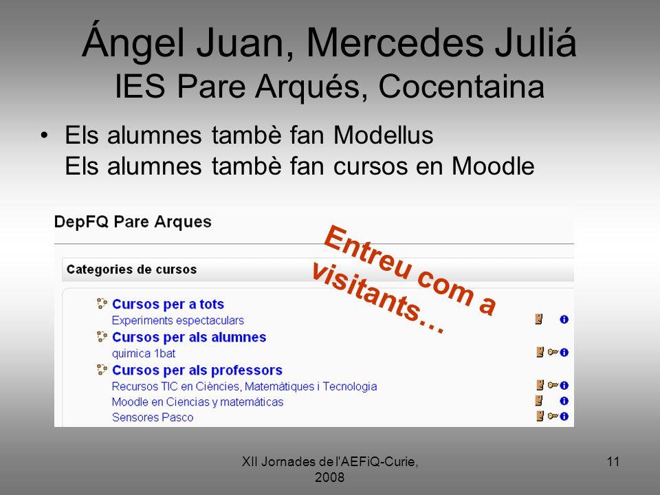 Ángel Juan, Mercedes Juliá IES Pare Arqués, Cocentaina