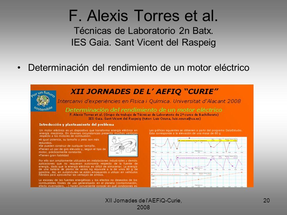 XII Jornades de l AEFiQ-Curie, 2008