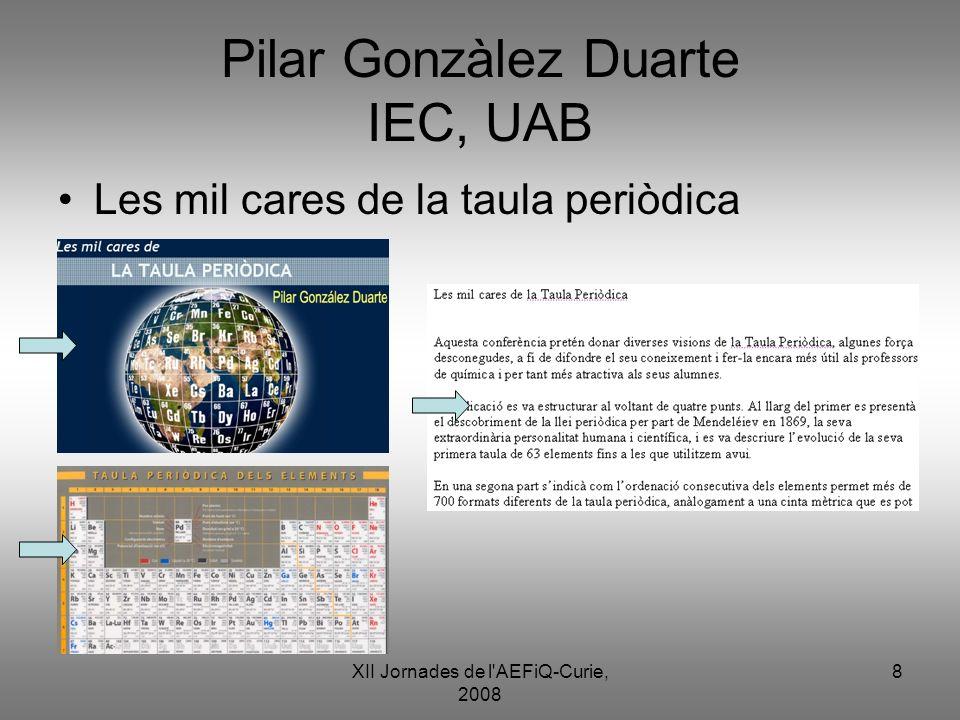 Pilar Gonzàlez Duarte IEC, UAB