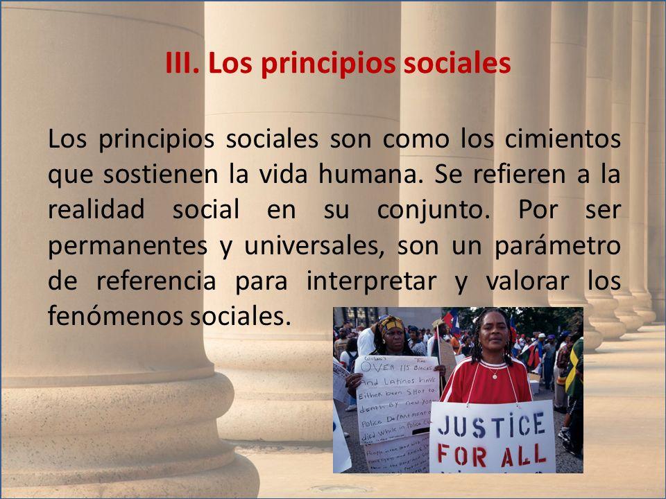 III. Los principios sociales