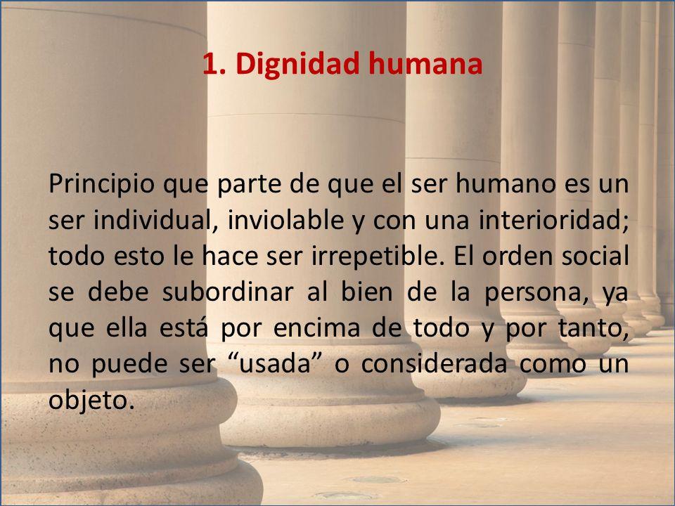 1. Dignidad humana