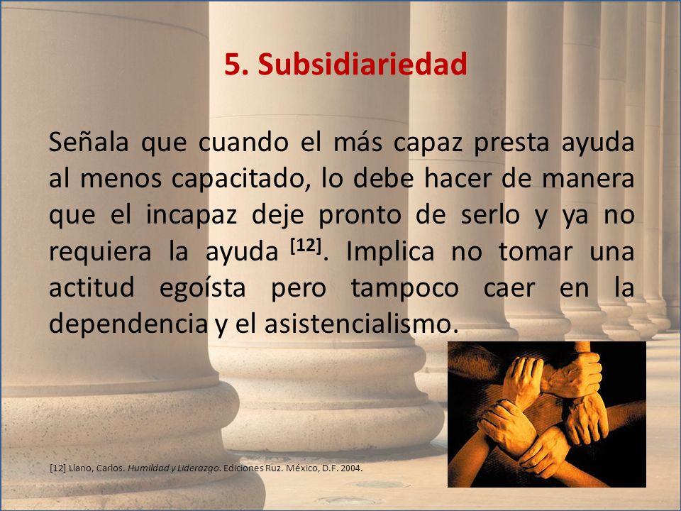 5. Subsidiariedad