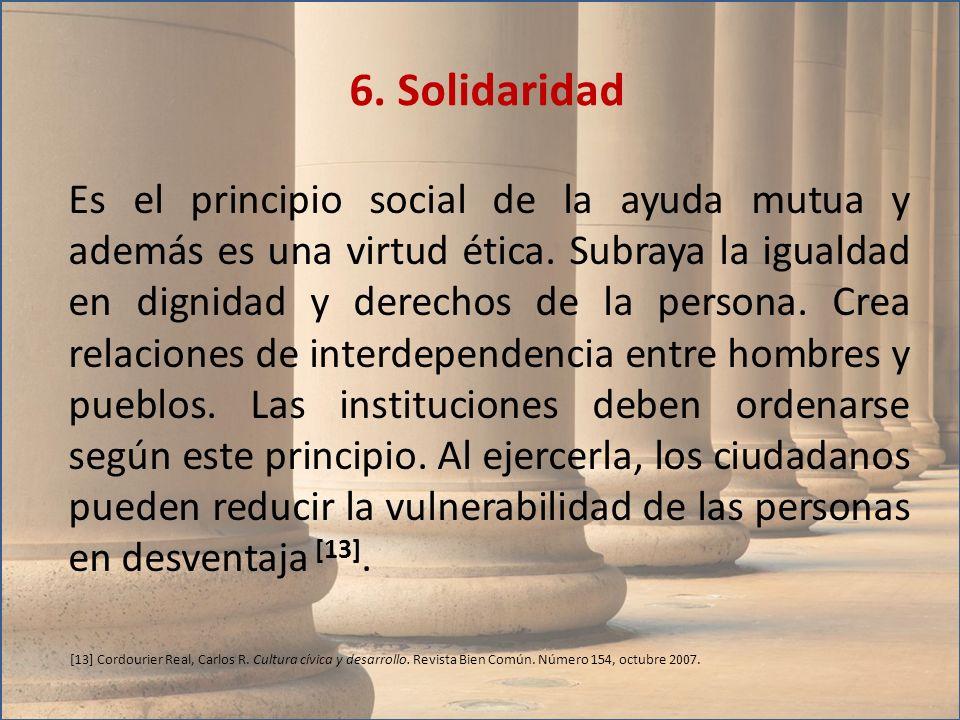 6. Solidaridad