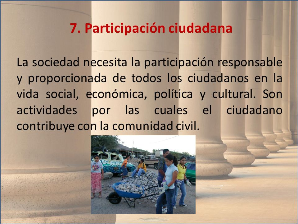 7. Participación ciudadana