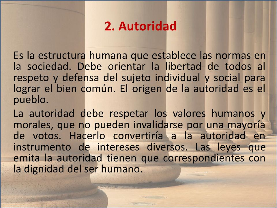 2. Autoridad