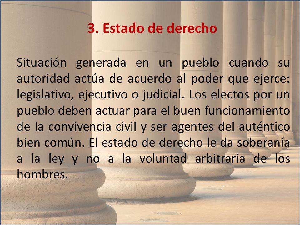 3. Estado de derecho