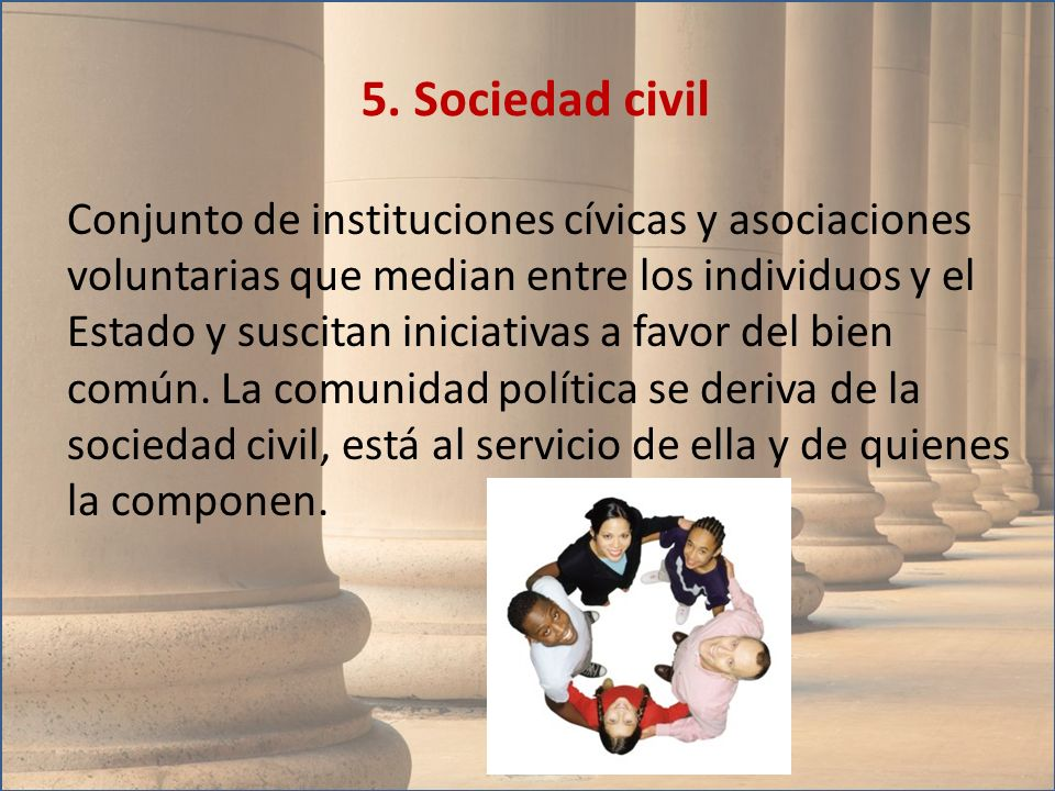 5. Sociedad civil