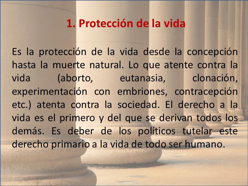 1. Protección de la vida