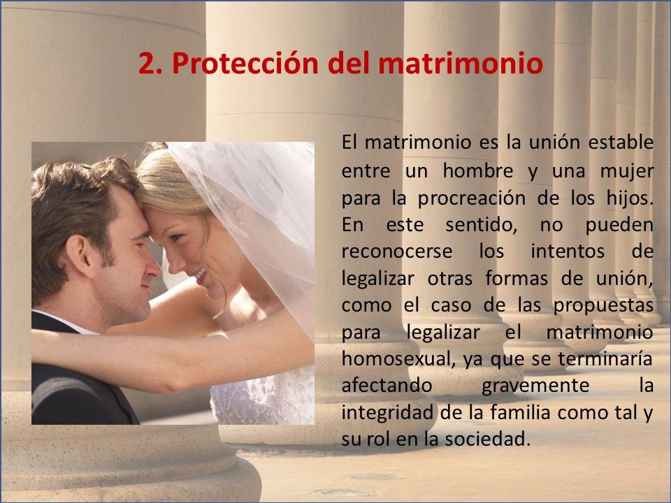 2. Protección del matrimonio