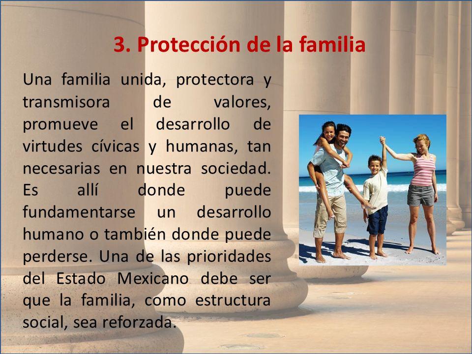 3. Protección de la familia
