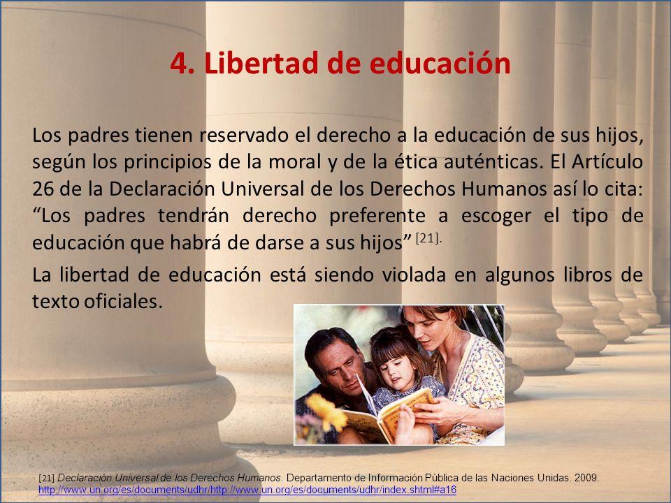 4. Libertad de educación