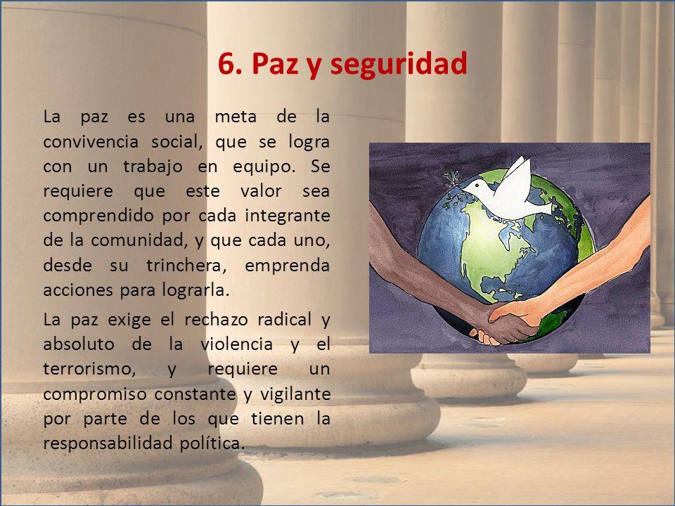 6. Paz y seguridad