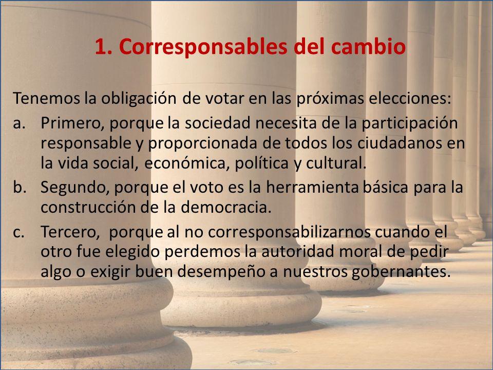 1. Corresponsables del cambio