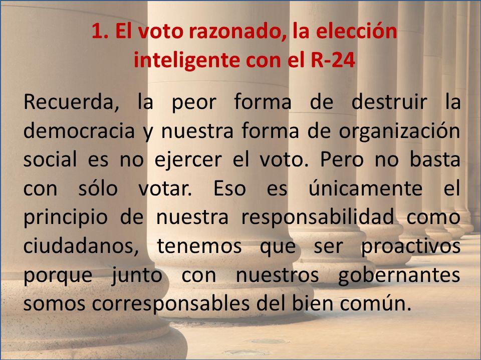 1. El voto razonado, la elección inteligente con el R-24