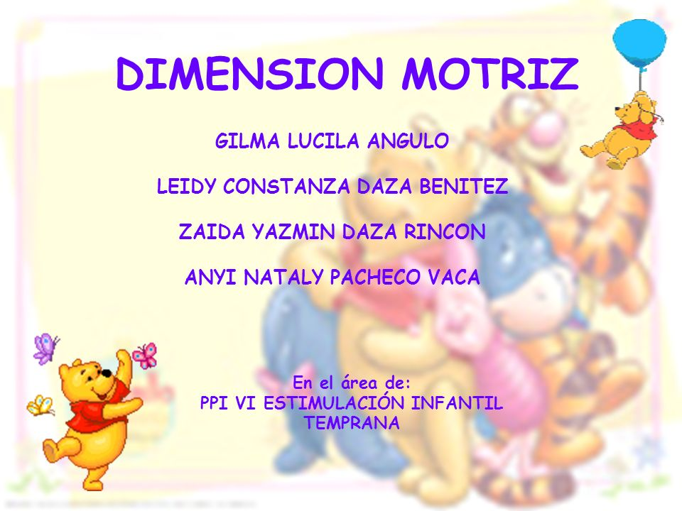 DIMENSION MOTRIZ GILMA LUCILA ANGULO LEIDY CONSTANZA DAZA BENITEZ