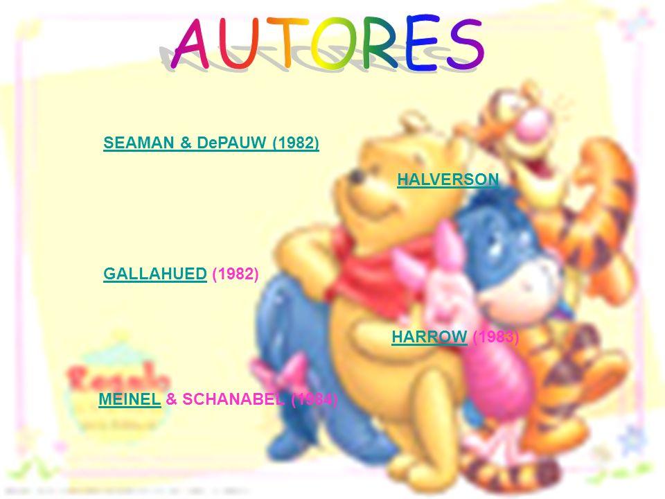 AUTORES SEAMAN & DePAUW (1982) HALVERSON GALLAHUED (1982)