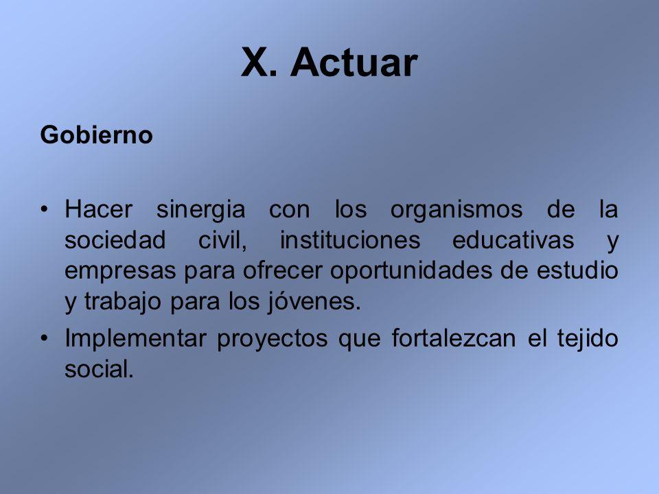X. Actuar Gobierno.