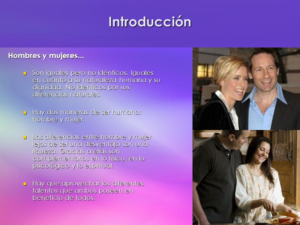 Introducción Hombres y mujeres...