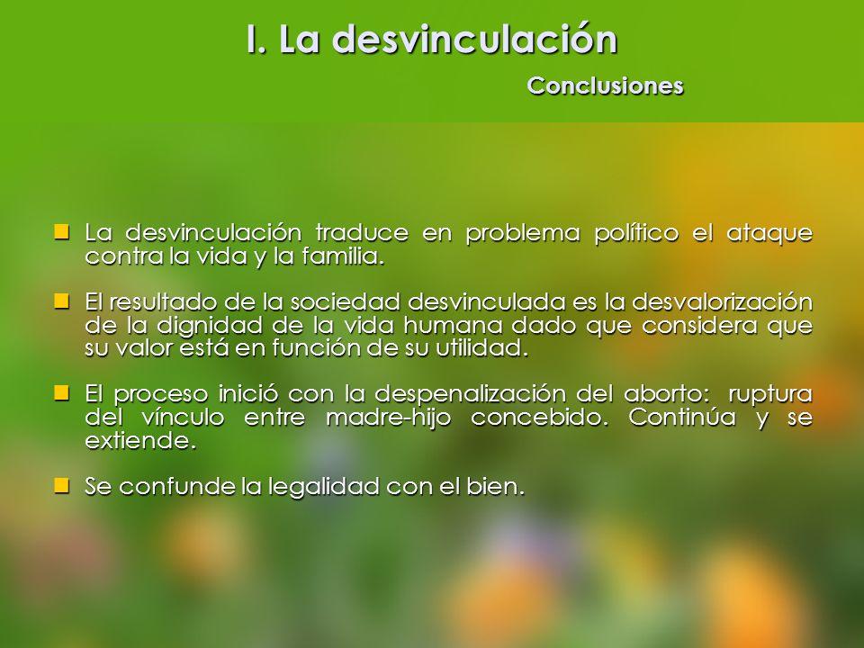 I. La desvinculación Conclusiones