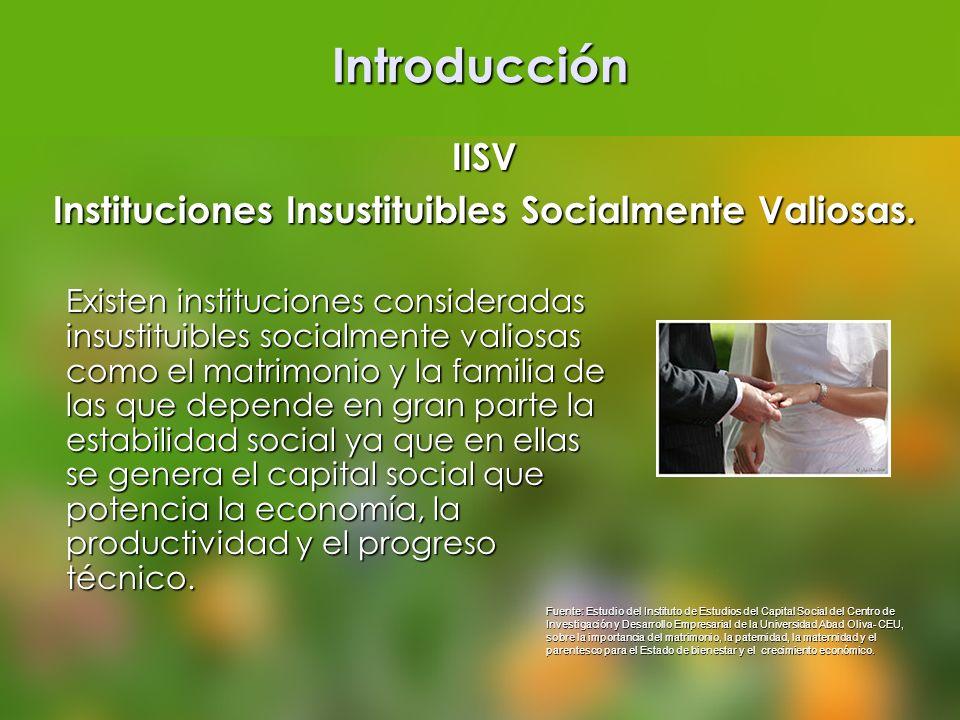 Instituciones Insustituibles Socialmente Valiosas.