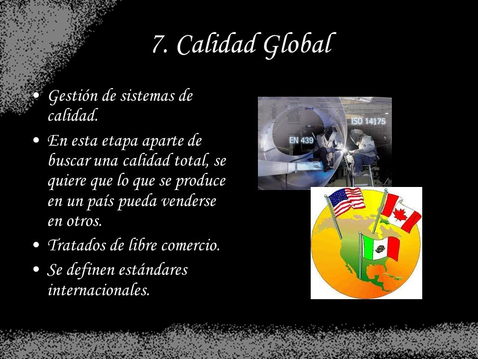 7. Calidad Global Gestión de sistemas de calidad.