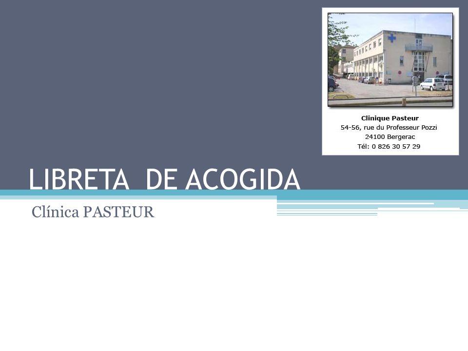 LIBRETA DE ACOGIDA Clínica PASTEUR