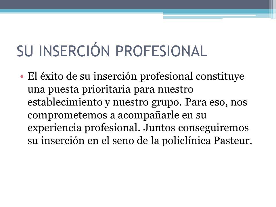 SU inserción profesional